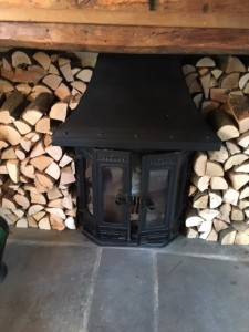 Logs round stove 5