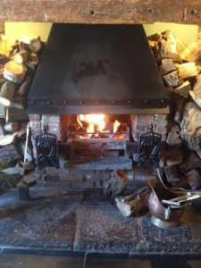 Logs with fire 3